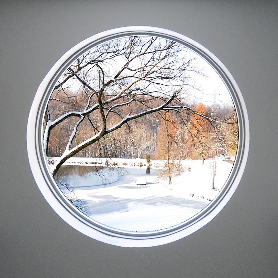 view from bathroom window residential architecture Cincinnati