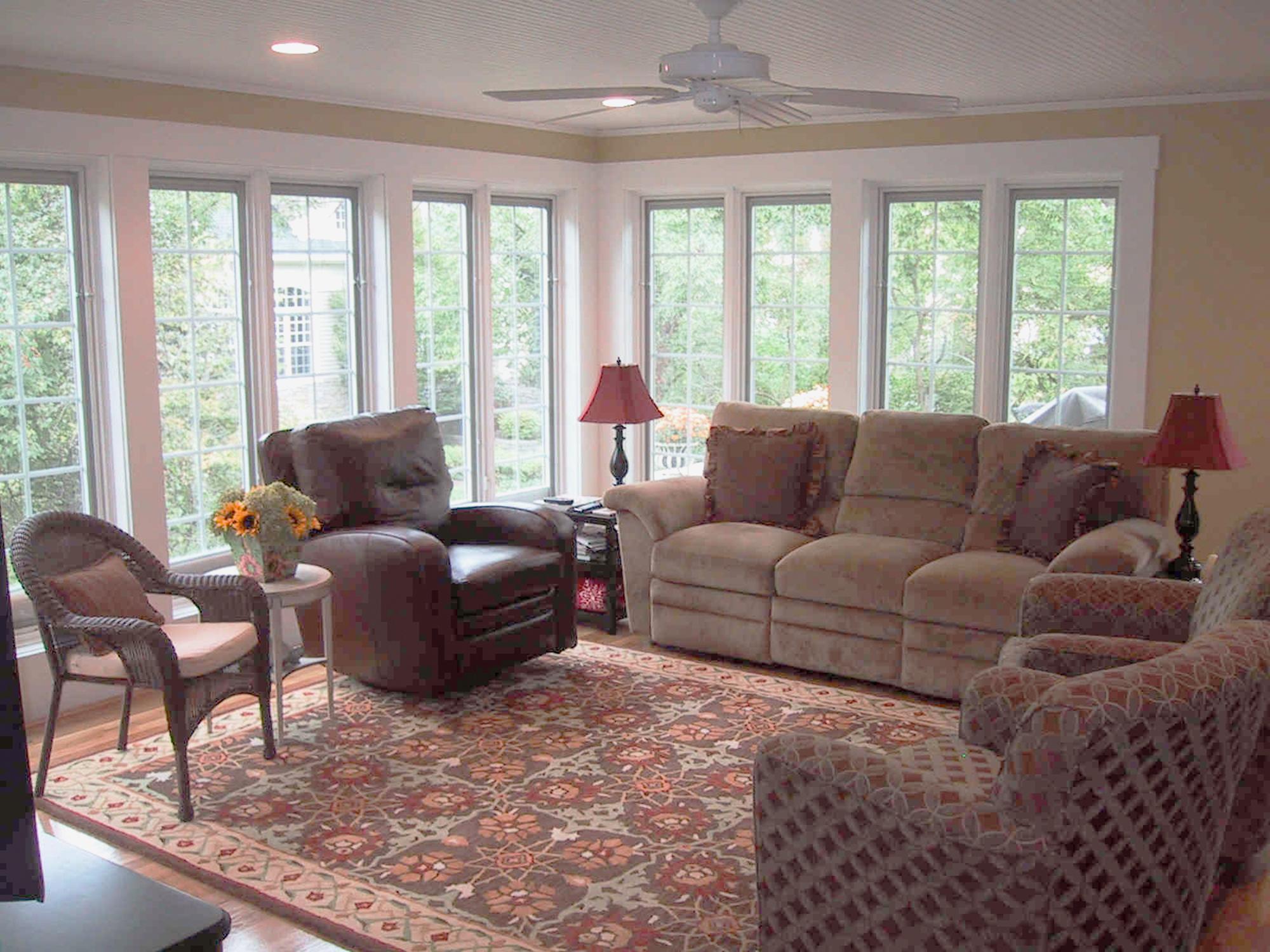 sunroom addition interior Wilcox Architecture