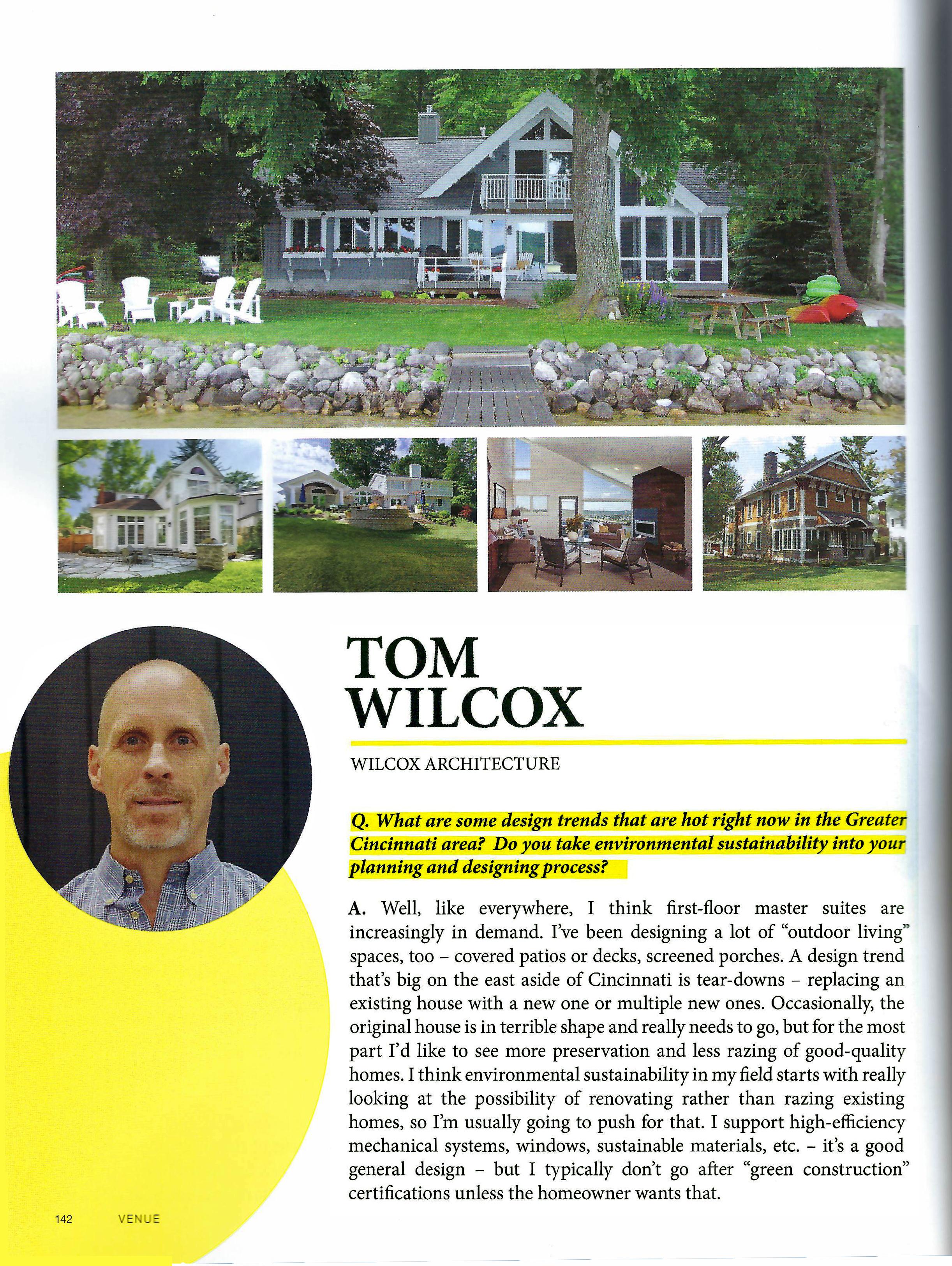 Magazine article Leading Influencers in Architecture & Design in Greater Cincinnati Wilcox Architecture