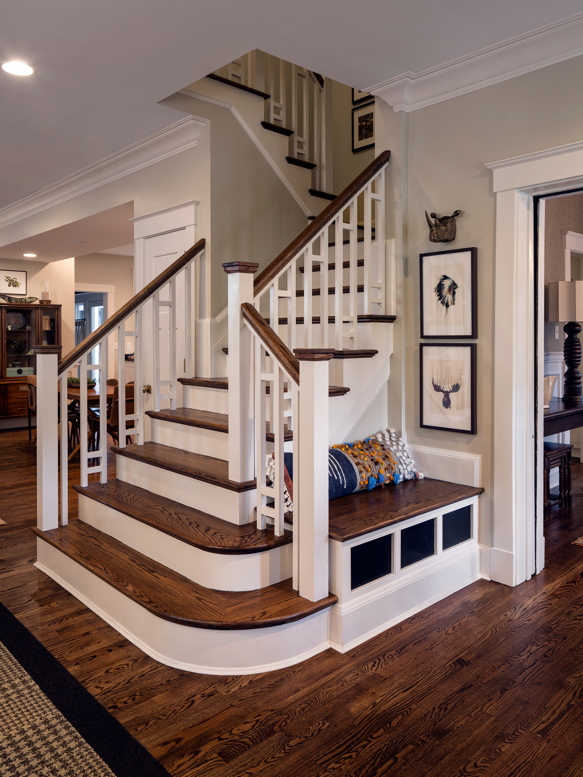 New open Staircase Wilcox Architecture Residential Architect