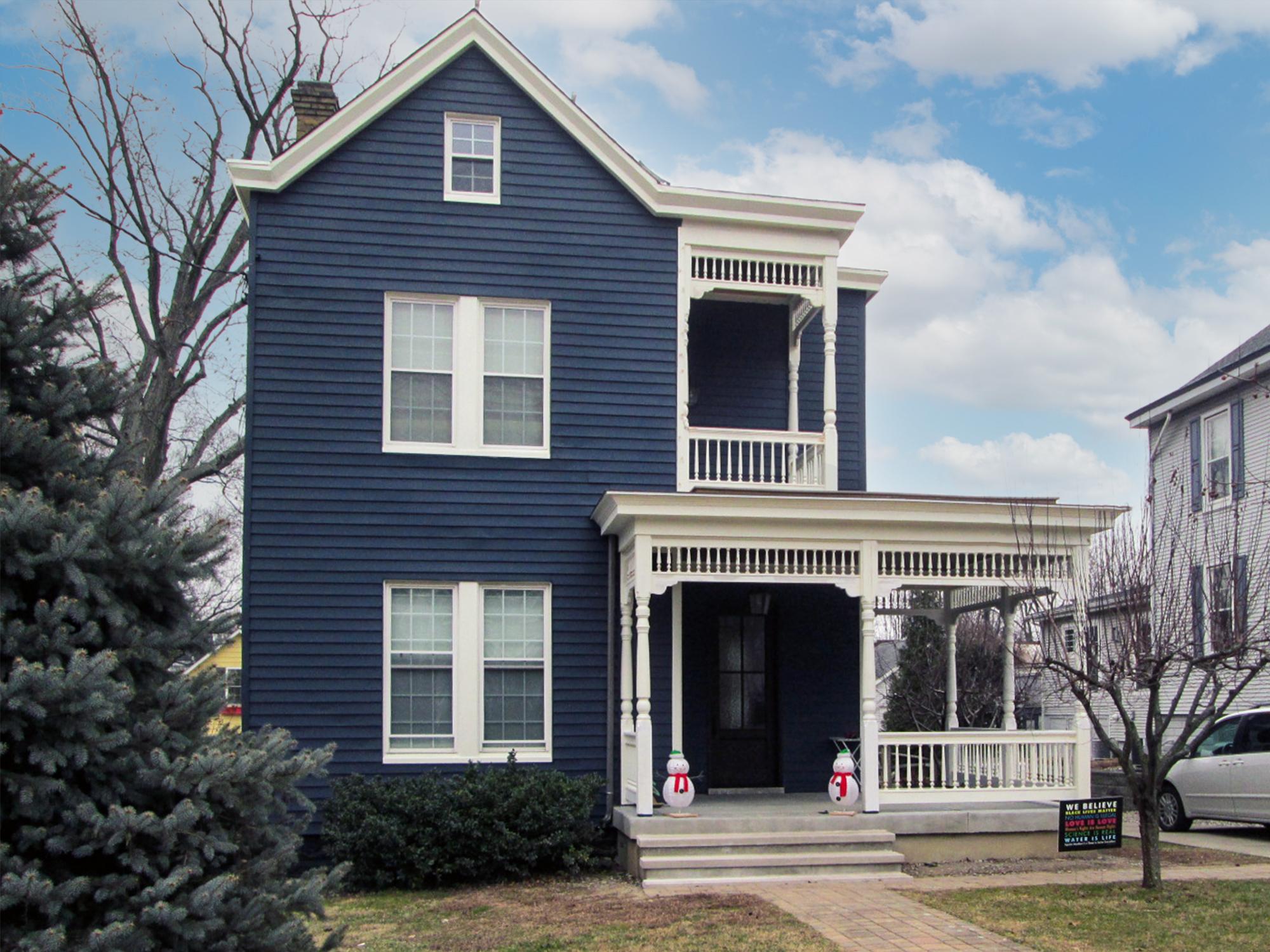 Renovated Victorian porch