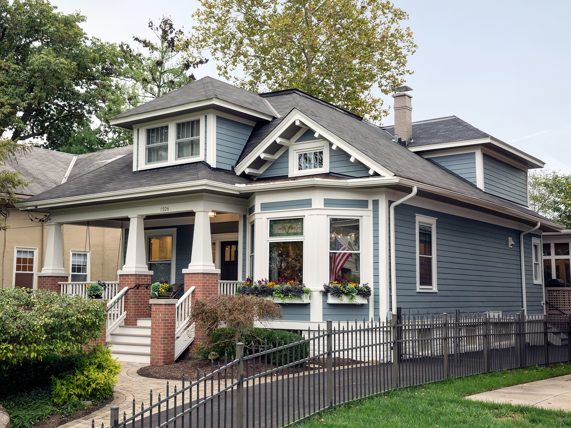 renovated Hyde Park home exterior Tom Wilcox Residential Architect