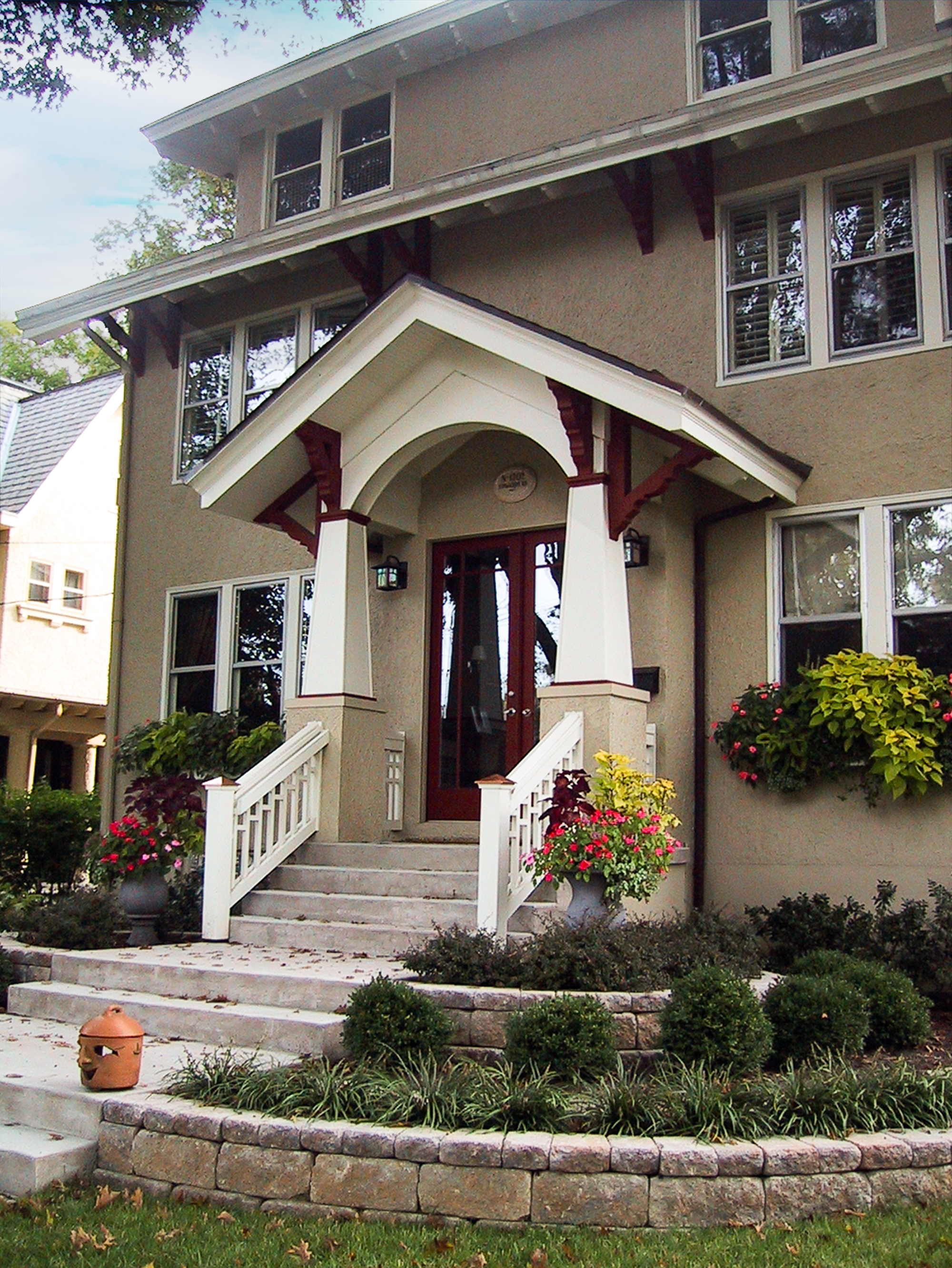 covered front porch addition Hyde Park Hyde Park Tom Wilcox Residential Architect