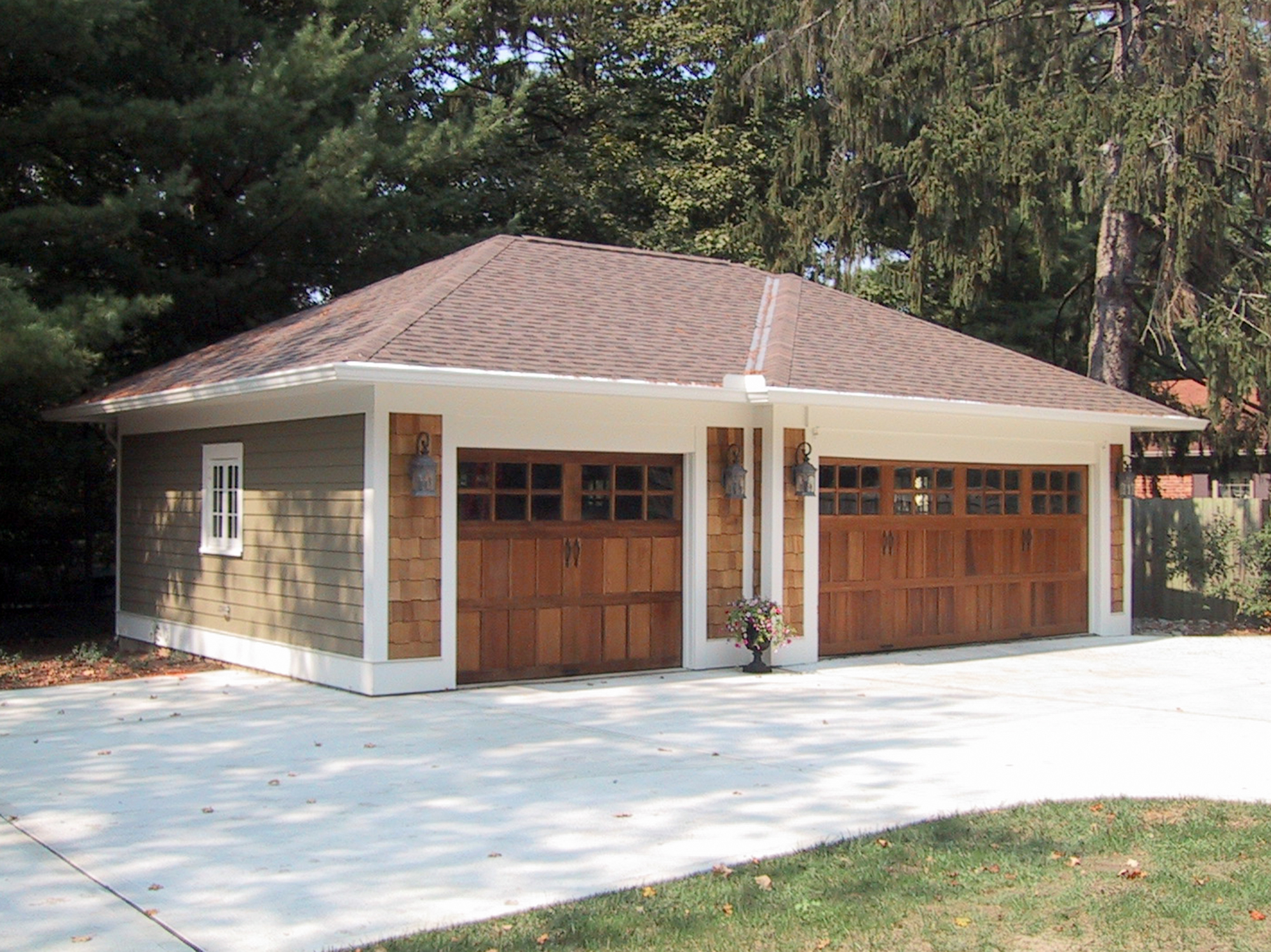 Renovated Garage matches renovated house