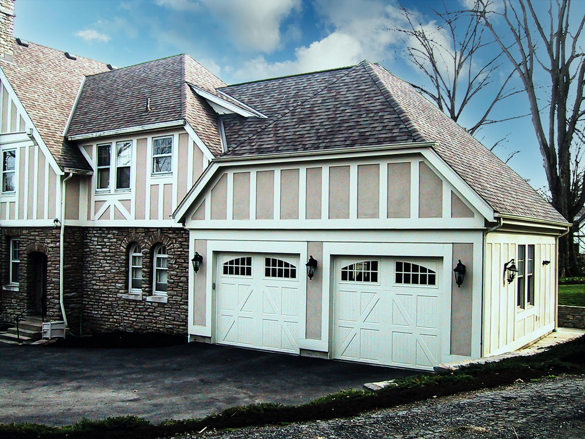 2-car Garage addition Tudor