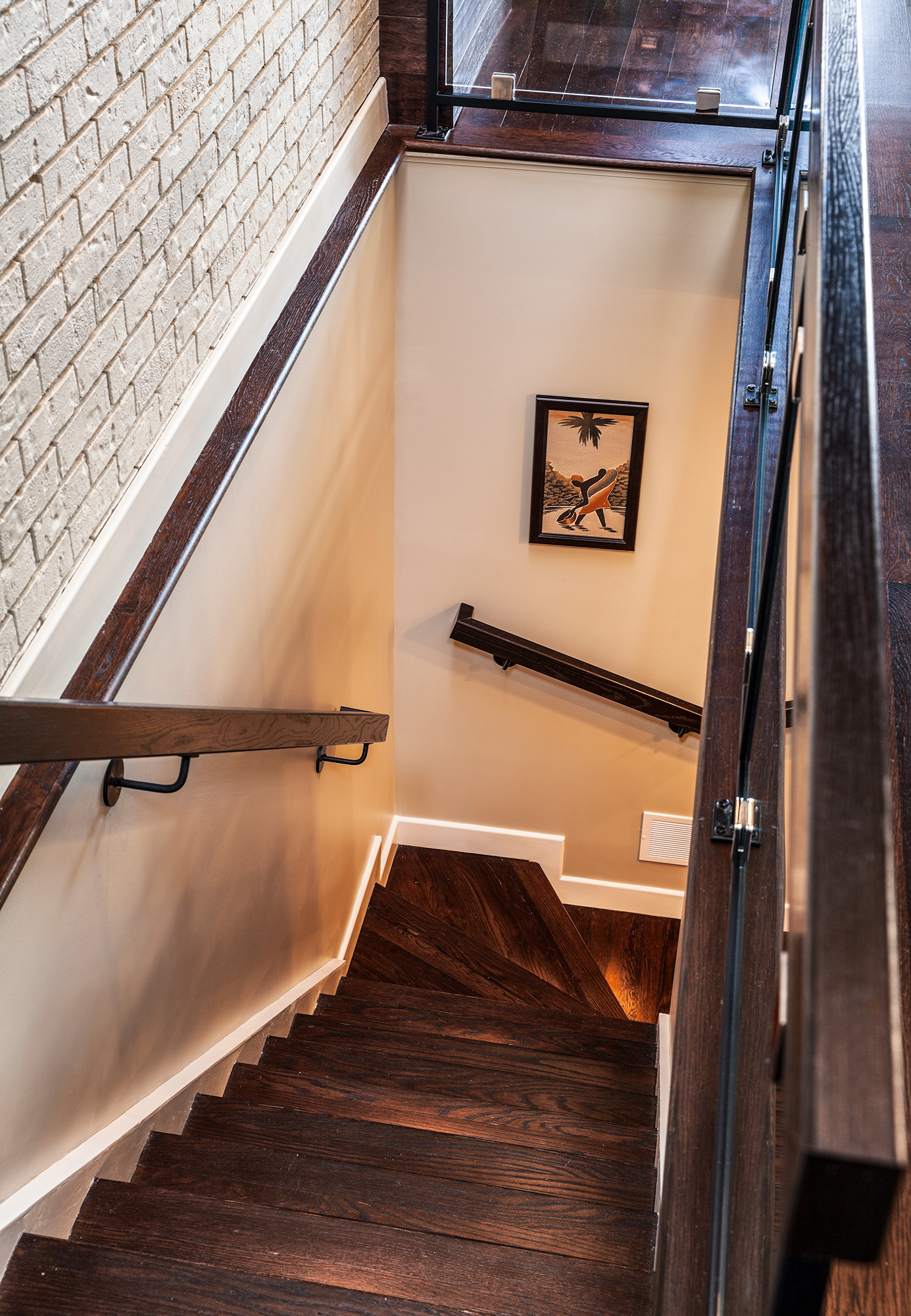Mt. Adams renovated staircase