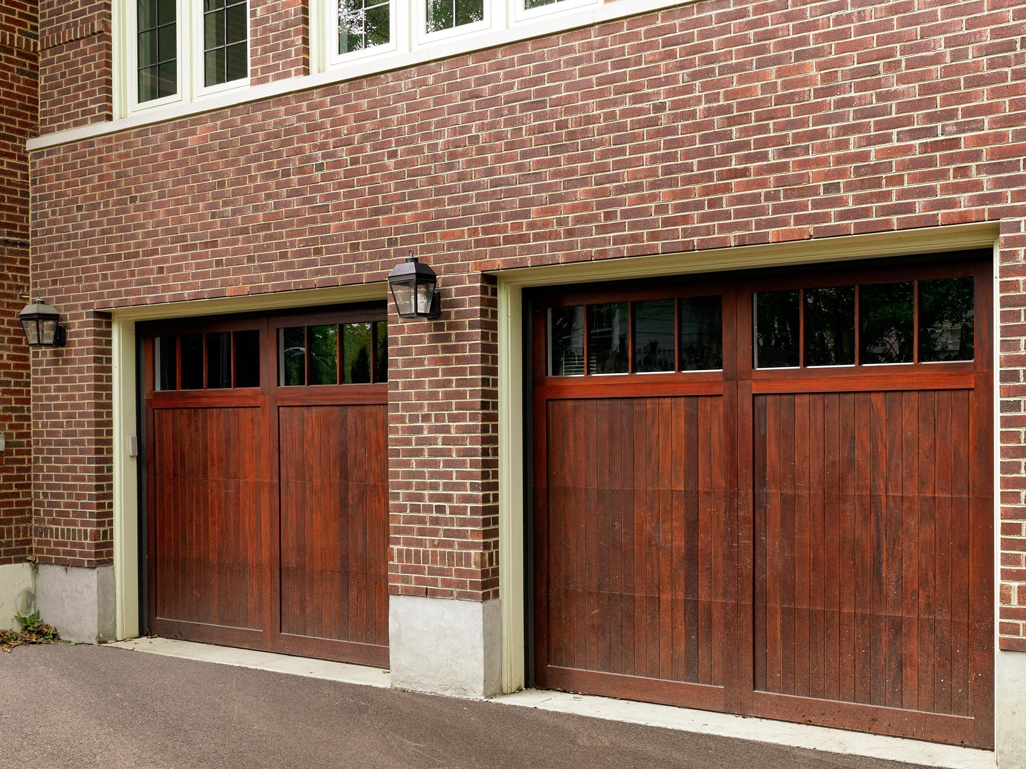 Detail of garage doors after remodel