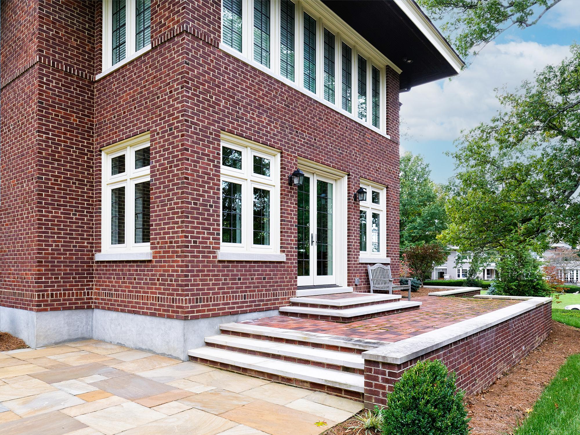 Patio and 3 level addition exterior Cincinnati Tom Wilcox Residential Architect
