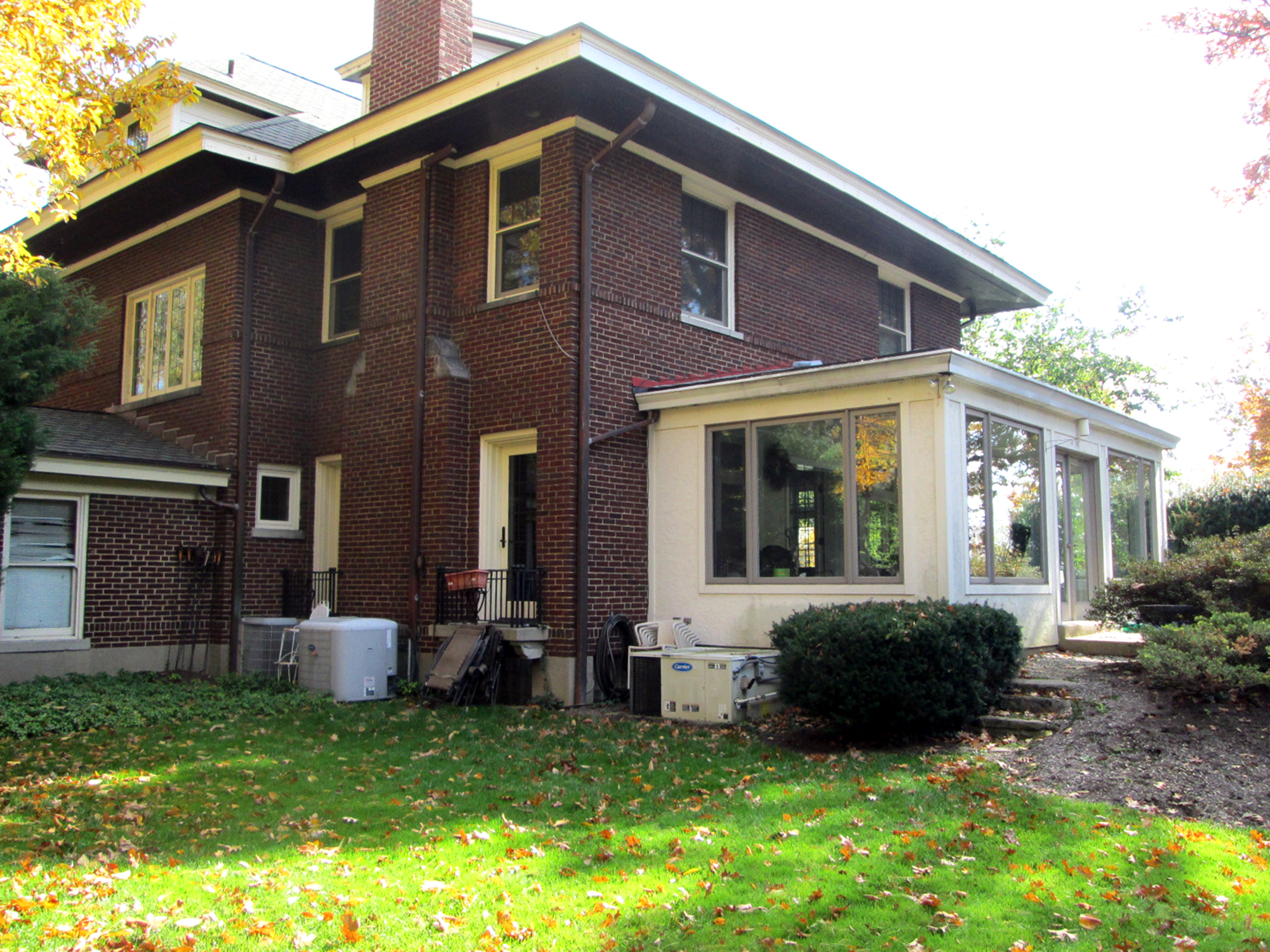 Rear view existing enclosed porch Cincinnati Residential Architecture