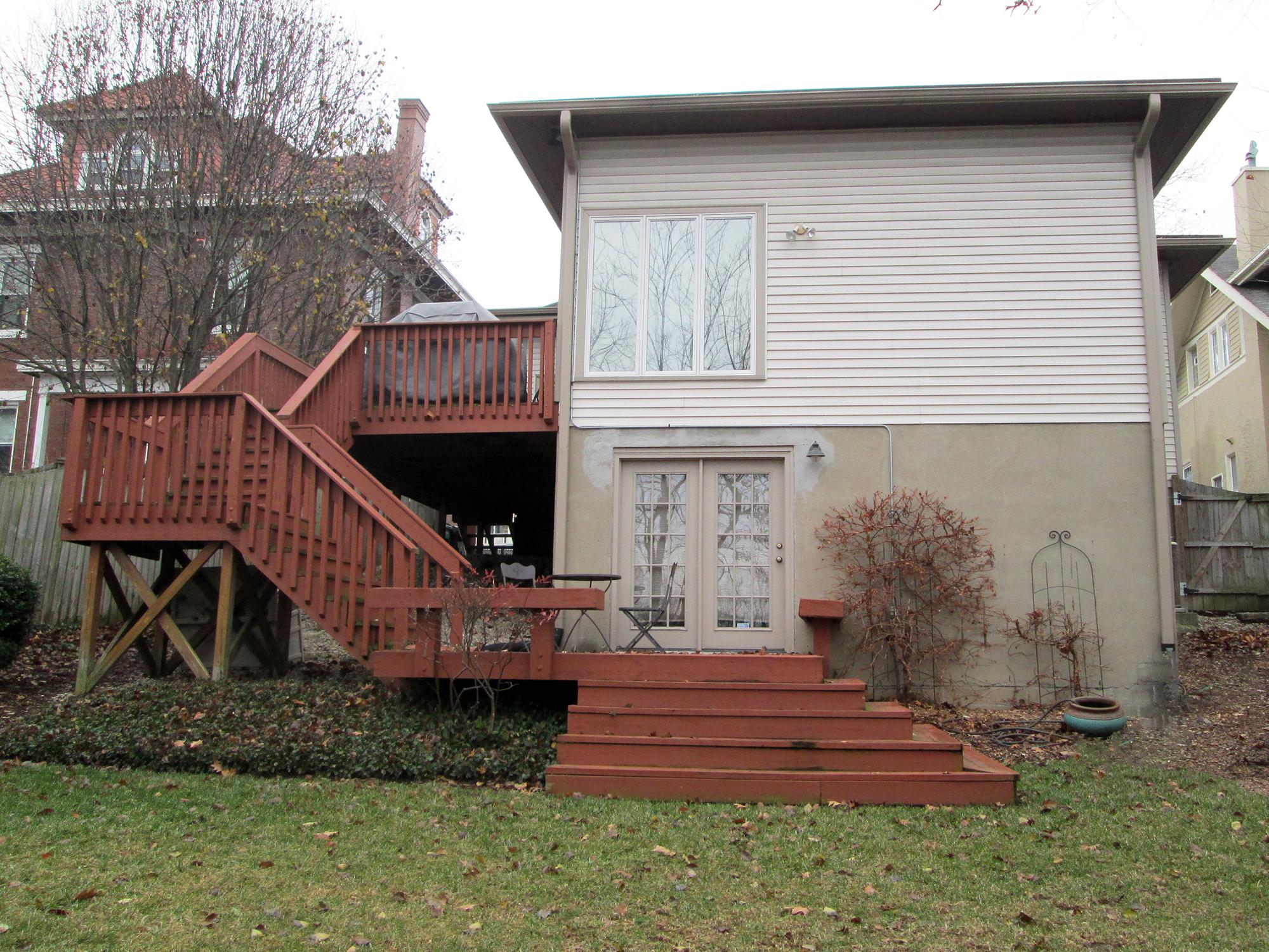 Existing home rear exterior Hyde Park Cincinnati
