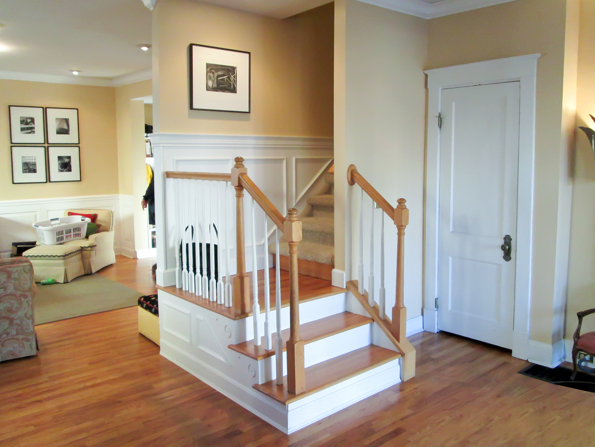 entry and stairs before