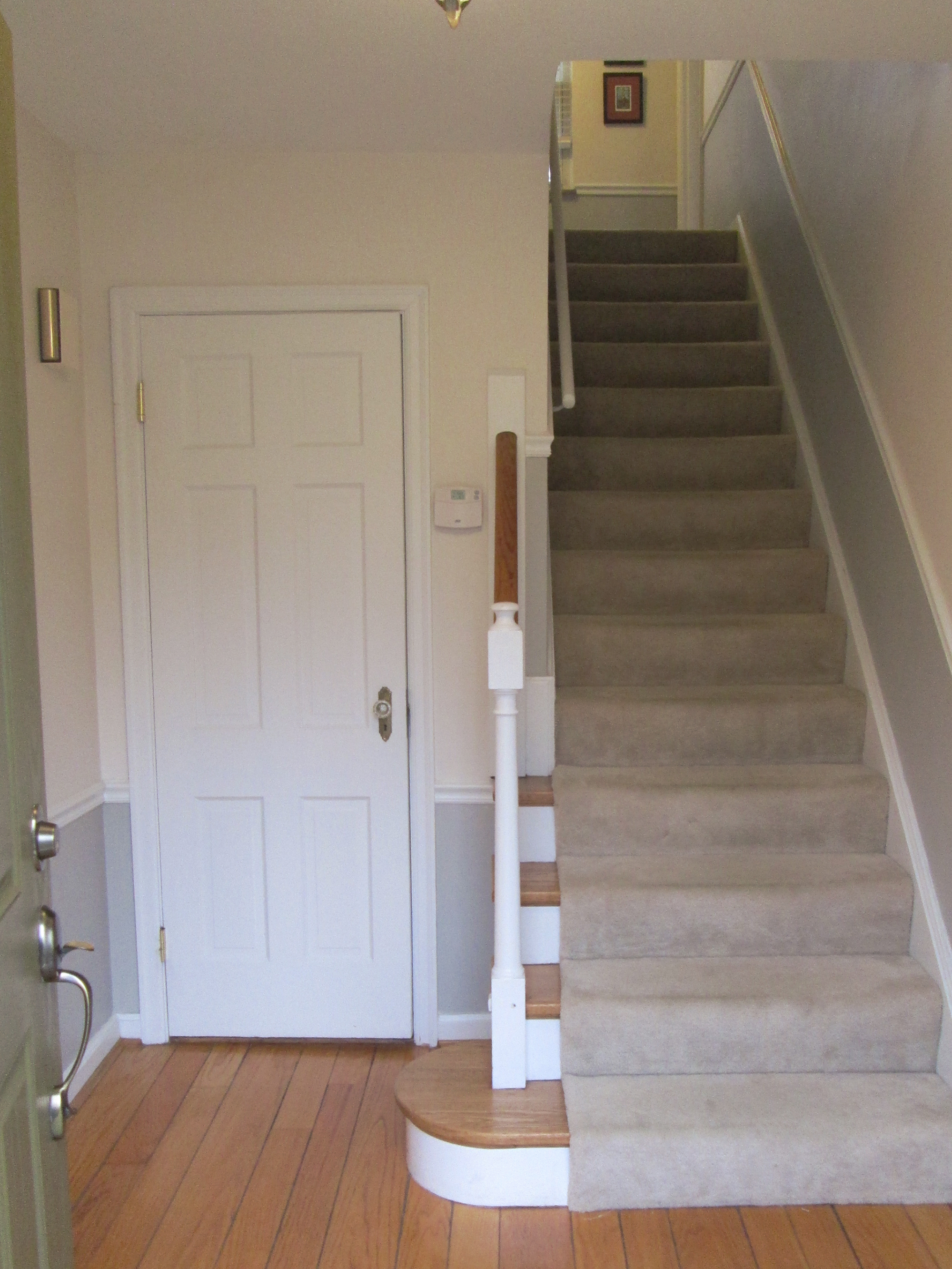 Before cramped entry and stairs