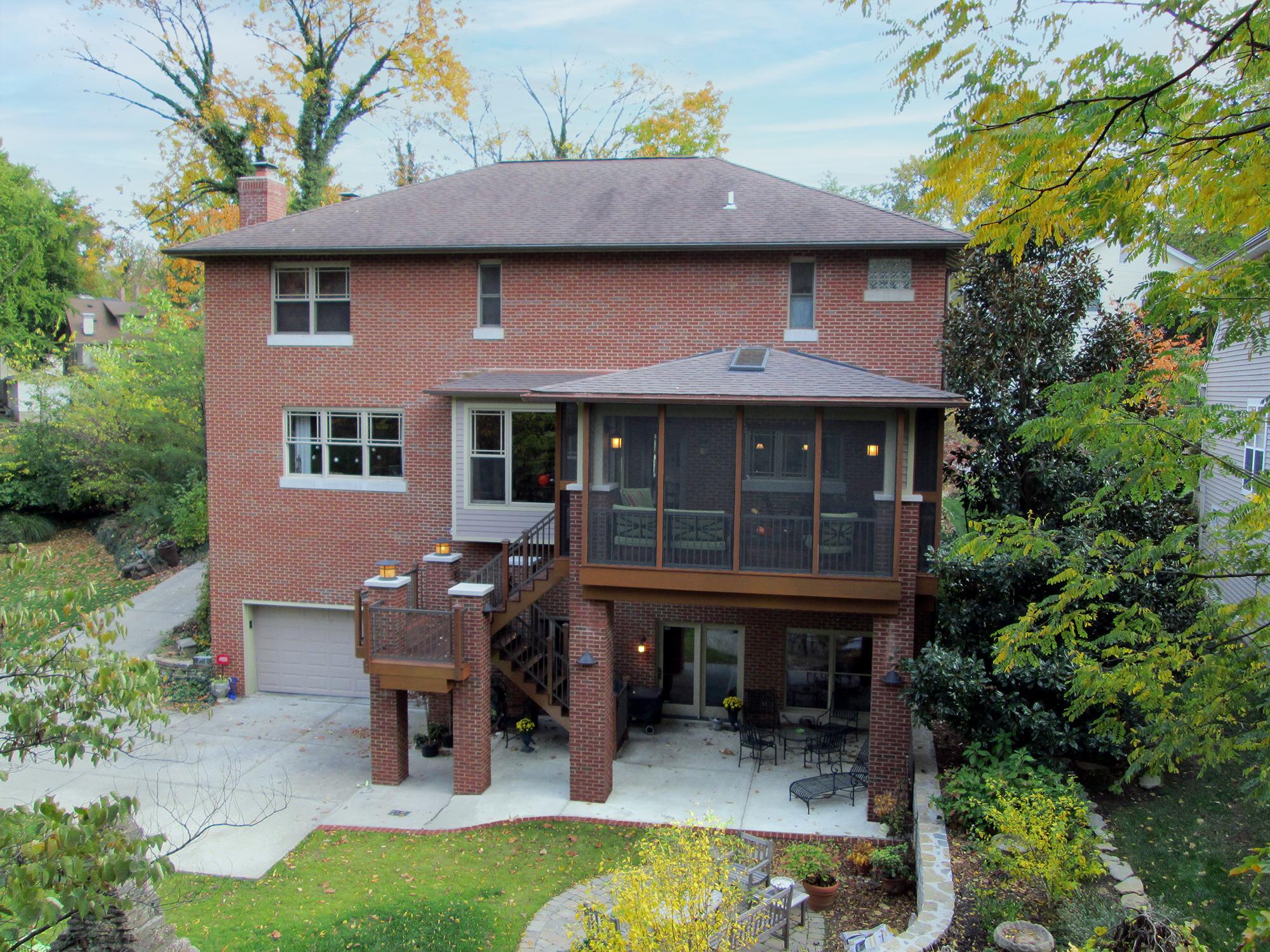 Screened porch addition Wilcox Architecture Cincinnati