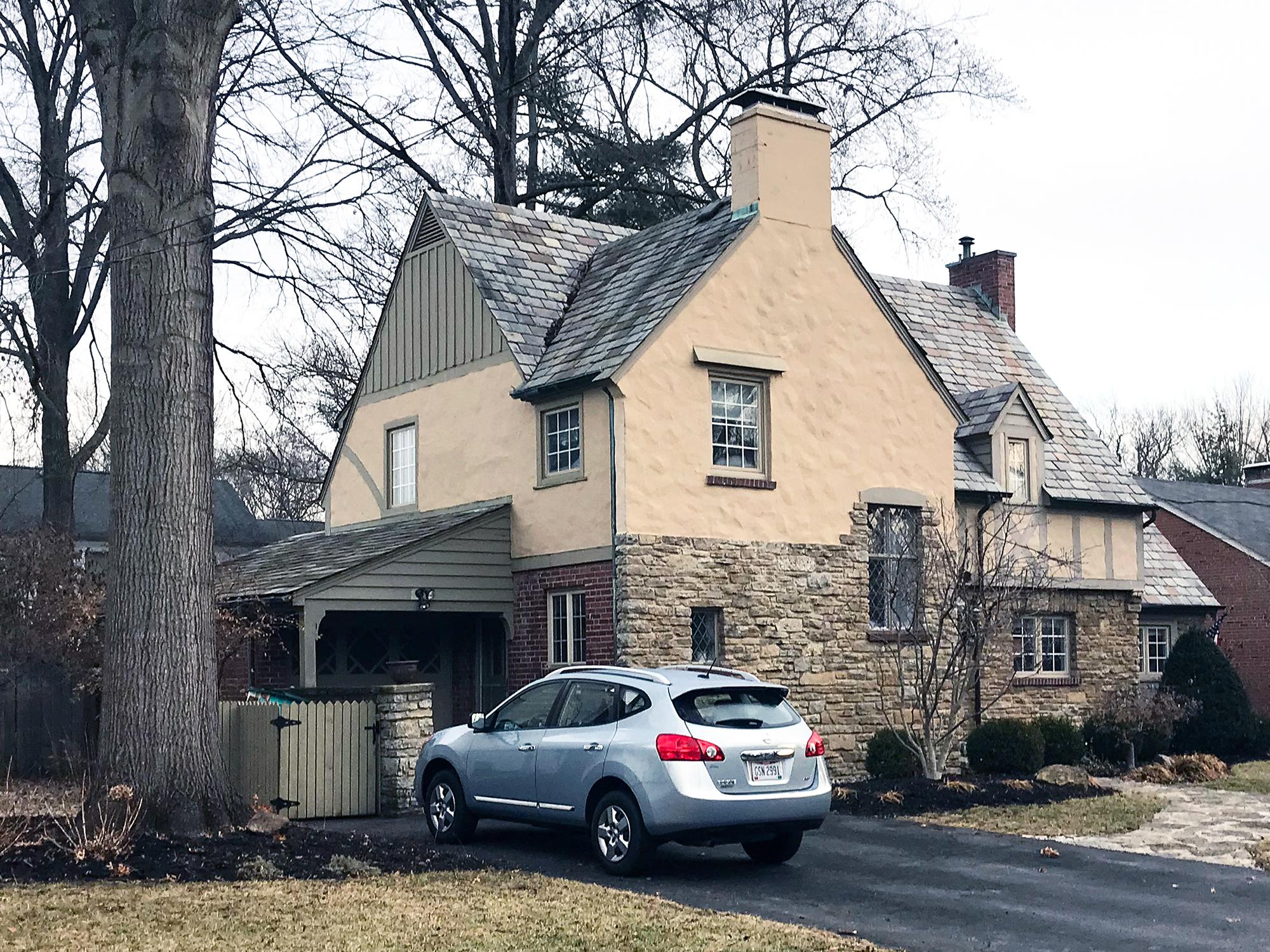 Tudor residential architecture Cincinnati stone