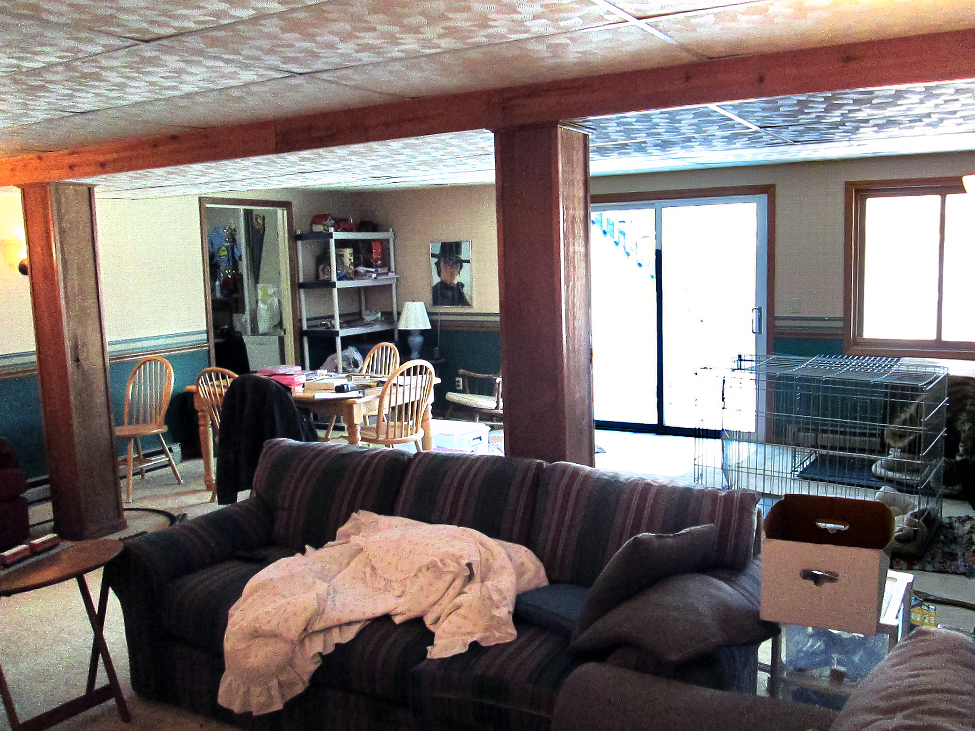 Before basement renovation residential architecture Anderson Township