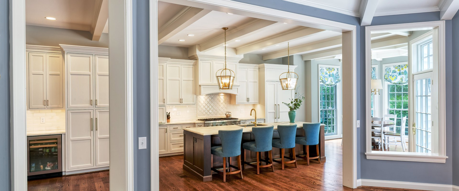Gourmet kitchen renovation and breakfast nook addition in Hyde Park Wilcox Architecture residential architect