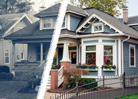 Before & After renovated home in Hyde Park