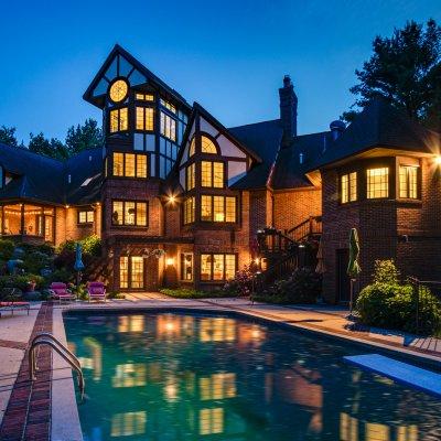 night exterior rear