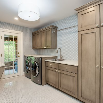 laundry room with access to screened porch