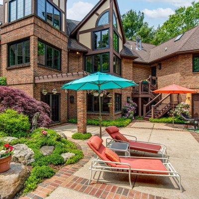 rear exterior pool patio