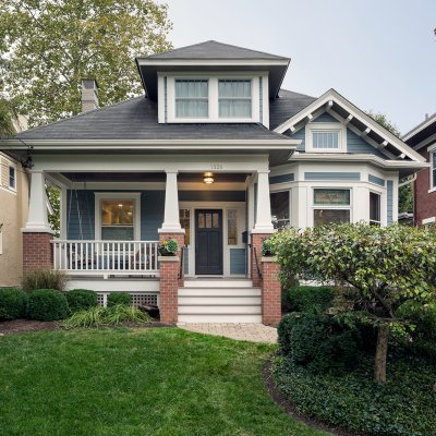 Front exterior Cincinnati Residential remodel