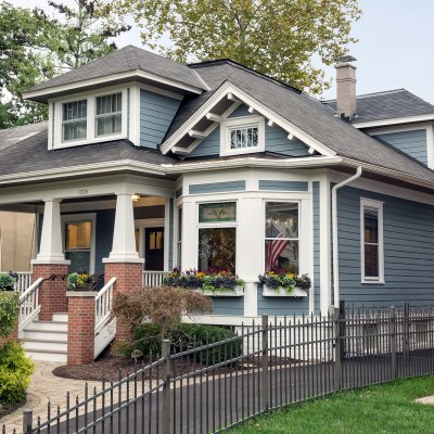 Remodeled home exterior