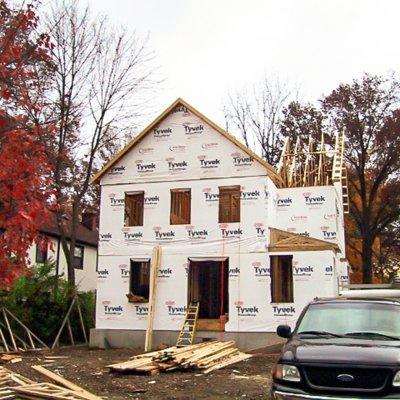 Mariemont house under construction Wilcox Architecture Cincinnati
