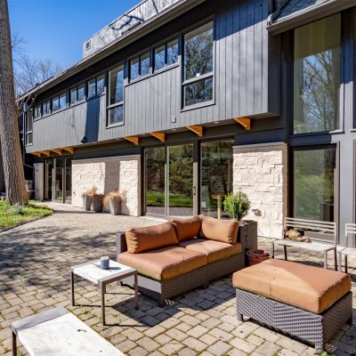 Ambleside rear exterior sitting area, Residential