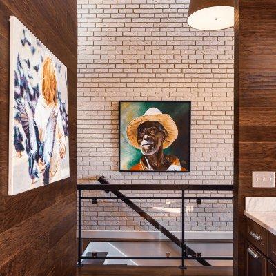 Mt. Adams condo renovation kitchen and staircase Wilcox Architecture