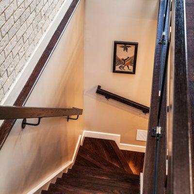 Mt. Adams condo renovation stairs Wilcox Architecture