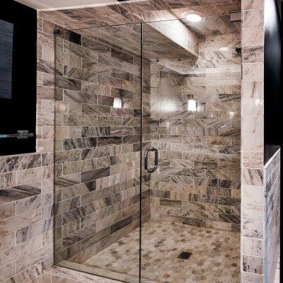 Mt. Adams master bath shower Wilcox Architecture
