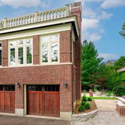 Addition over garage, slate patio residential architecture Cincinnati