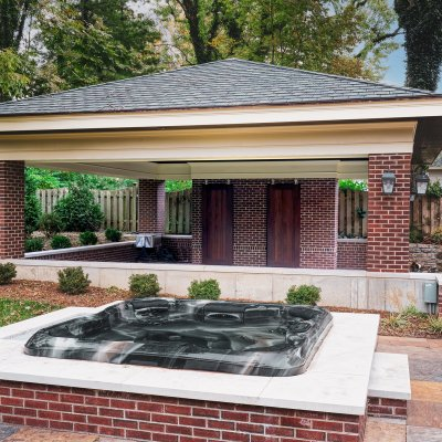 New Pavilion and hot tub