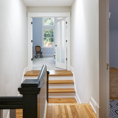 Entrance to master suite addition Wilcox Architecture