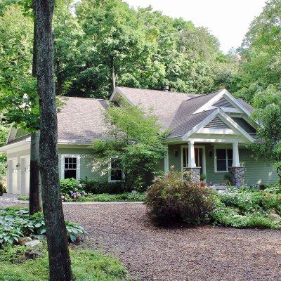 Glen Arbor new home in woods Wilcox Architecture