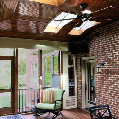 Ceiling fan, sky lights, Wilcox Architecture