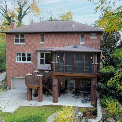 Screened-in porch Residential Architecture addition
