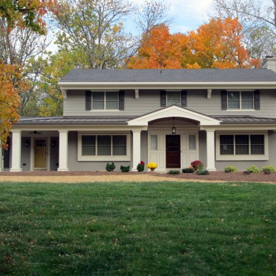 Indian Hill front porch addition Wilcox Architecture