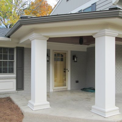 front porch columns residential architecture Indian Hill