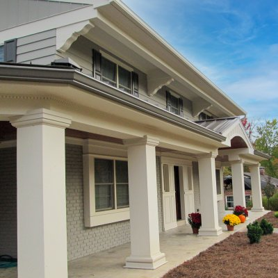 Indian Hill front porch addition Tom Wilcox residential architect
