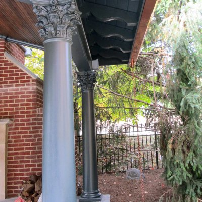 pavilion with rain chain Hyde Park residential architecture