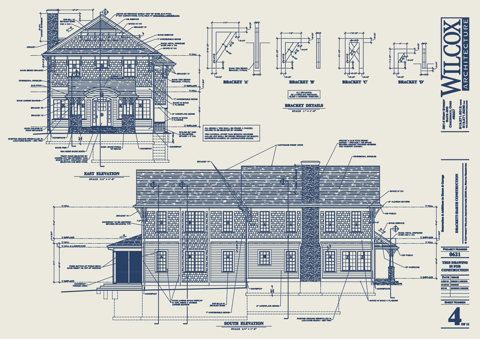 Construction Drawing for second floor addition Wilcox Architecture, Residential Architecture