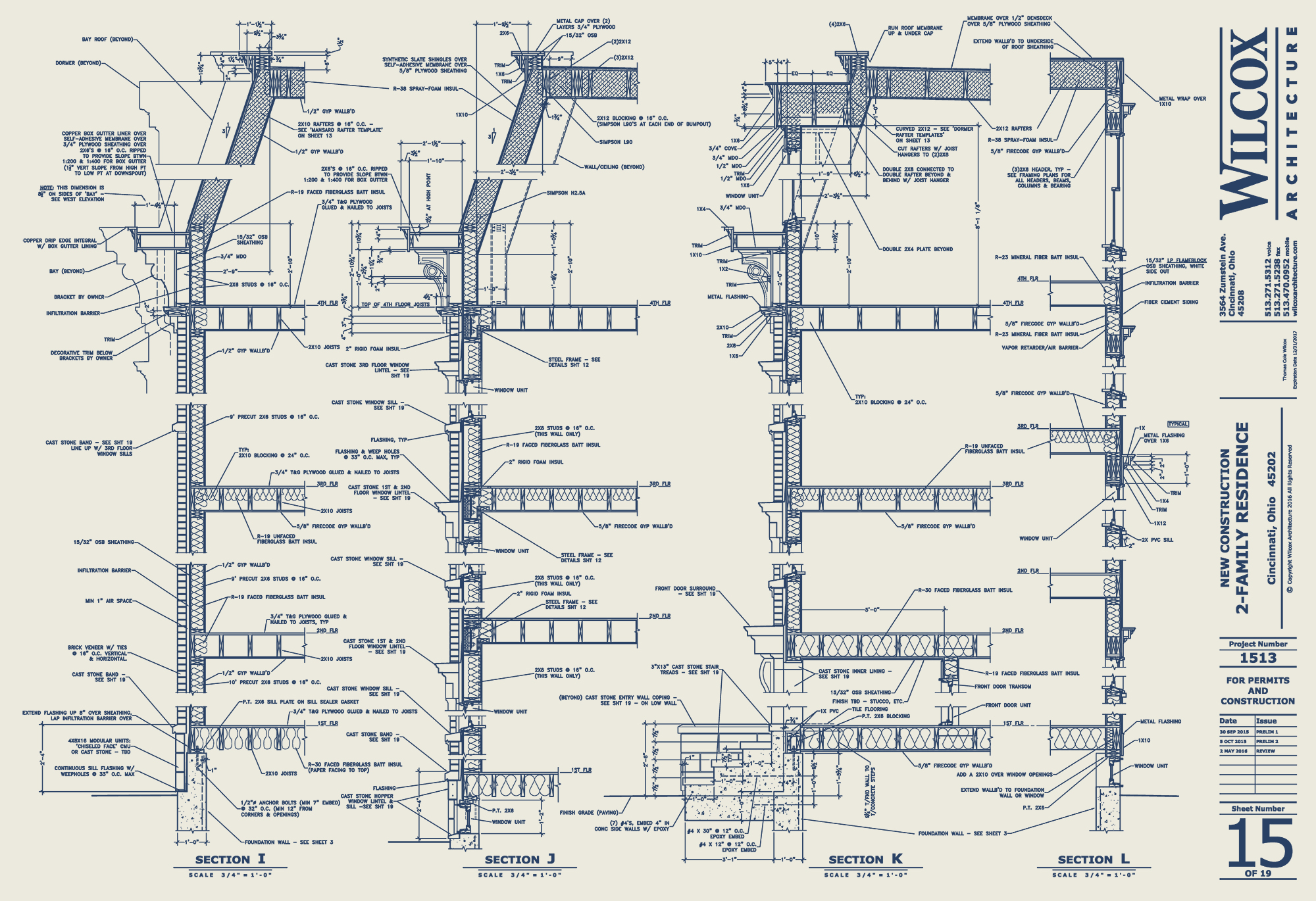 Wilcox Architecture permit drawing sheet Residential Architecture