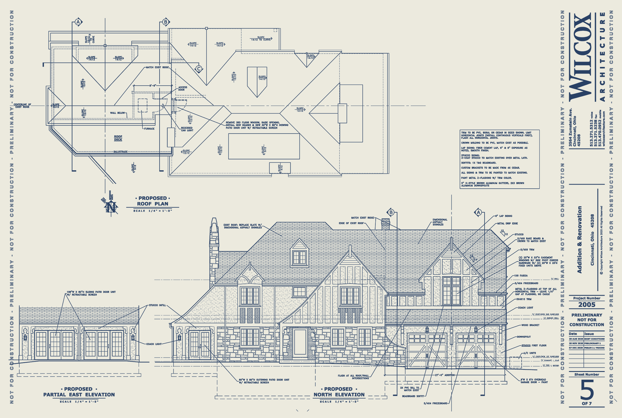 Design Development drawing Wilcox Architecture, Residential Architecture